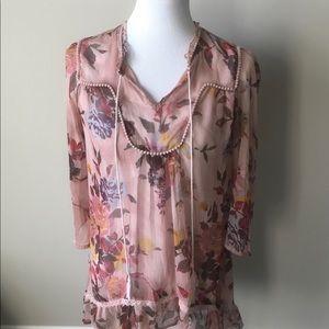 BKE feminine sheer blouse
